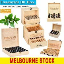 Essential Oil Storage Box WoodenCase 12-85Slots Aromatherapy Organizer Holder AU