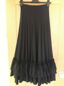 Flamenco Skirt Black Excellent Condition Size Small