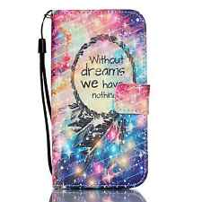 Dream Catcher Glittering PU Leather Wallet Cover Case For Samsung Galaxy S7 Edge