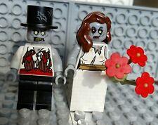 LEGO ZOMBIE MINIFIGURES Wedding Bride Groom Halloween Monster Cake Topper NEW