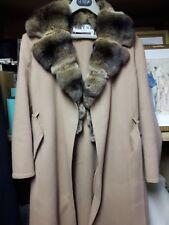 12//14 Pelliccia lana /& Mix Boutique Stile Giacca//Cappotto Ruggine Taglia L
