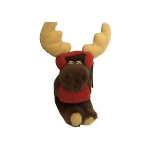 Applause Vintage Holiday Dakin Plush Stuff Animal Fun Farm Moose, 1979