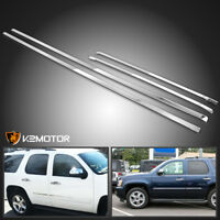 2007-2009 Chevy Tahoe Stainless Steel 4PC Side Door Trim Body molding Overlay