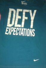 Nike Defy Expectations Turquoise T Shirt Sz S