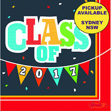 GRADUATION PARTY SUPPLIES 16pk LARGE LUNCH NAPKINS CLASS OF 2017