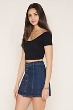 Forever 21 Crisscross-Back Crop Top Black Small