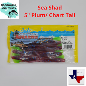 """Saltwater Assassin Sea Shad 5"""" Plum/ Chartreuse Tail SSA24255 Redfish & Trout"""