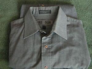 OLEG CASSINI Men's Graylong sleeve dress shirt sizeM Pre-Owned