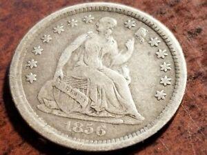 1856 Seated Liberty Silver Half Dime, full liberty     ZW09    AR930