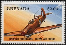 WWII RAF HAWKER HURRICANE Fighter Aircraft Stamp