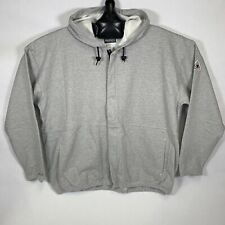 BULWARK Flame Resistant Full Zip Hooded Jacket GRAY XXL