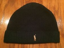 NWT POLO RALPH LAUREN MERINO LAMBSWOOL THERMAL HUNT CLUB GREEN CAP SKULLY BEANIE