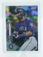 2020 Topps Chrome Kyle Lewis SP Photo Variation Refractor Rookie Card - ROY RC