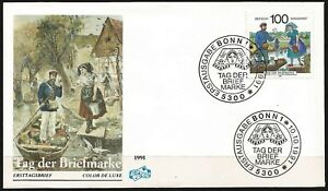 Germany 1991 FDC - Stamp Day - Postal Delivery in Spreewald Region Boat