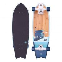 "Z-Flex Surfskate Bamboo Surfskate Fish Complete Skateboard 31"", Blue"