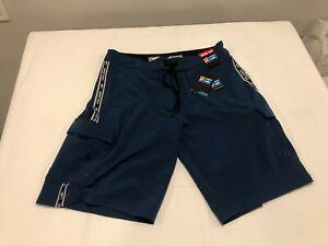 NWT $69.00 Pelagic Mens Blackfin Stretch Boatshort Fishing Shorts Blue Sz 34