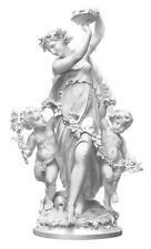 Mythology, BACCHUS BABY ANGEL CHERUBS & BACCHANTE ~ Old 1872 Art Print Engraving