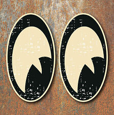 Vintage Eyes Aged Look Stickers x2 Car Motorbike Helmet Hot Rod Cafe Racer VW
