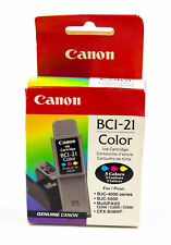 Canon: OEM BCI-21 Tri-Color Ink Cartridge - For BJC-4000, BJC-5500 | NEW SEALED