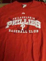 Philadelphia Phillies Baseball Club Majestic Long Sleeve T-Shirt Men's L