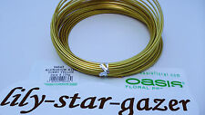 Sunny Yellow Coloured 2mm Aluminium Oasis Floristry Wire x 12m Roll - Florist