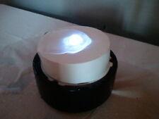 Zimmerbrunnen schwarz/weiß wie Kerze mit weißer Beleuchtung - Katzenbrunnen -1B