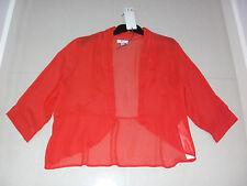 M.E.L: Size: 12-14. Stylish Modern Bright Apricot 100% Silk, Light-Weight Jacket