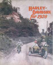 1928 HARLEY-DAVIDSON  SALES BROCHURE - ANTIQUE REPRODUCTION