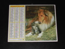 Calendrier PTT 1986 chaton et Colley