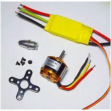 RC 2200KV Brushless Motor 2212-6 + 30A ESC + Free Mount for rc plane