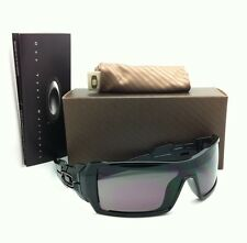Rare Oakley Sunglasses OIL RIG OO9081 03-460 Shiny Black Frames with Grey Lenses