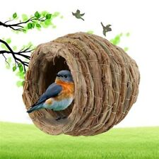 New listing Bird Parrot Handwoven Straw Cage Animals Hamster Parrot Hatching Breeding Cave^