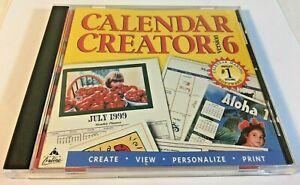 Broderbund Calendar Creator Version 6 Windows 95/98 Windows NT