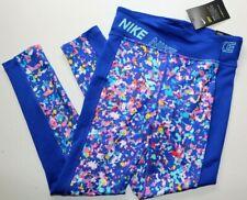 NIKE ONE DRY TIGHT FIT TRAINING TIGHTS - HYPER BLUE CJ7602-433 - GIRLS M / XL
