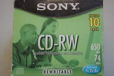 Sony CD-RW  10 Pack 650 MB 74 Multi Speed 1X 2X 4X