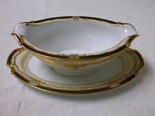 Vintage 1930-1953 Noritake VALIERE Pattern #95632 Gravy Bowl with Attached UP
