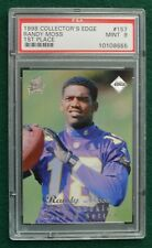 Randy Moss rookie card graded PSA 9 Mint - 1998 Coll Edge First Place Vikings RC