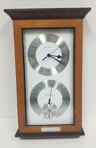 Bulova BNSF Railway Wall Clock Weather Station Thermometer Hygrometer  railroad