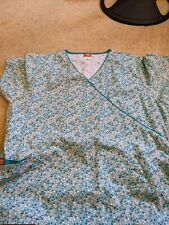 Lot of 2 Gently-used Women's scrub tops, size 2xl.good condition.