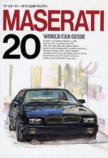 [BOOK] MASERATI WCG20 250F 8CL Ghibli Bora 228 QUATTROPORTE 450S KHAMSIN Japan