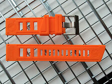 DIVER WATCH STRAP BAND 22MM SILICONE RUBBER ORANGE CUSTOM FIT VOSTOK AMPHIBIAN