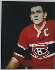 8 X 10 Autograph Photo Maurice The Rocket Richard Montreal Canadiens Hall Fame