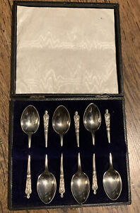 Vintage Silver Plated EPNS Set OF 6 APOSTLE Spoons in Original Box.