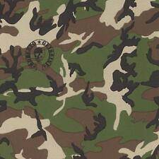 Rasch Designer motif camouflage Papier peint armée militaire Metalique 492477