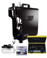Profesional Aerografía Kit Con Silverline 2 En 1 & Sparmax 620x Compresor