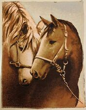 "Gobelin tapestry ""Horses"", no frame"