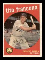 1959 Topps Set Break # 268 Tito Francona VG-EX MK *OBGcards*