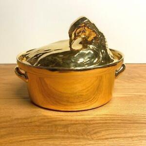 Vintage Hall China Golden Glo Hen on Nest Casserole Dish 100