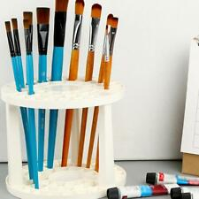 Art Supplies Using Paint Brush Penholder White Round Plastic Stand  AU