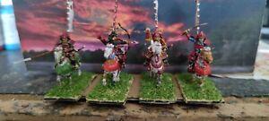 1/72 4 cavaliers samouraïs peint